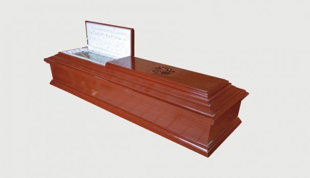 ataúd para entierro y exhumación
